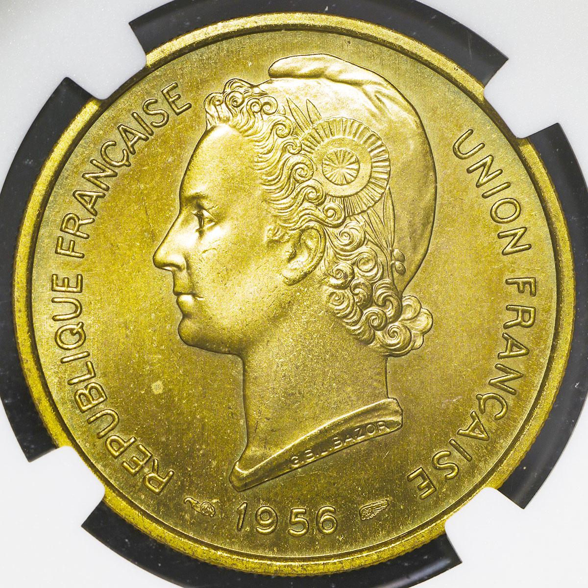 フランス領トーゴ25フラン試鋳貨(おもて面)/ TOGO Essai 25Francs