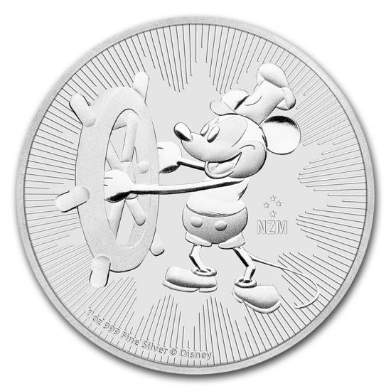ディズニー ミッキーマウス スチームボート銀貨