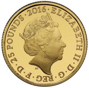 ピーターラビット1/4オンス金貨(ビアトリクス・ポター生誕150周年)裏面