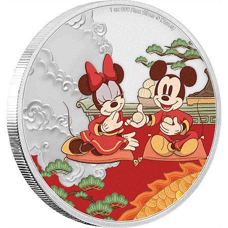 ディズニー:子年「福」 2ドル銀貨(ニウエ:2020年)