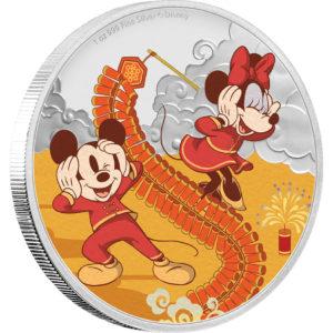 ディズニー:子年「禄」 2ドル銀貨(ニウエ:2020年)