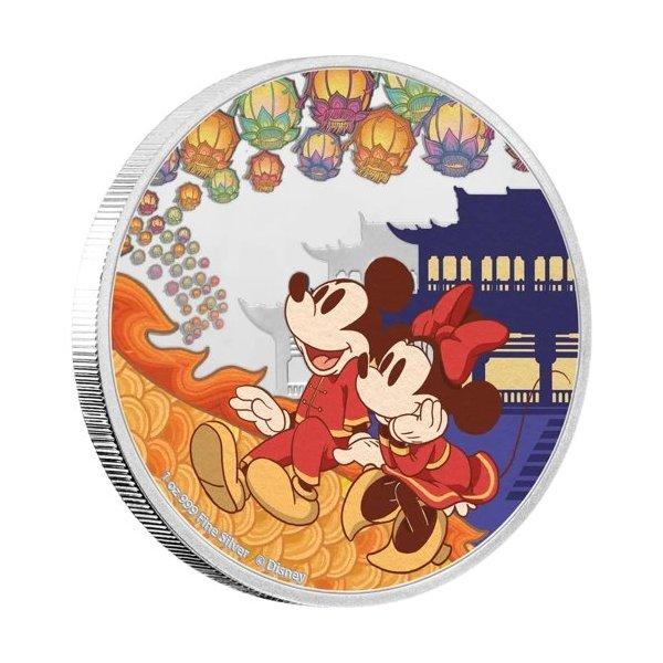 ディズニー:子年「喜」 2ドル銀貨(ニウエ)